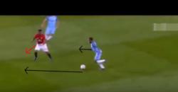 スターリング:ドリブルの技術:走る足の回転でボールを前に運ぶ